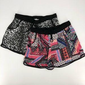 Eye Candy Leopard + Paisley Shorts Bundle